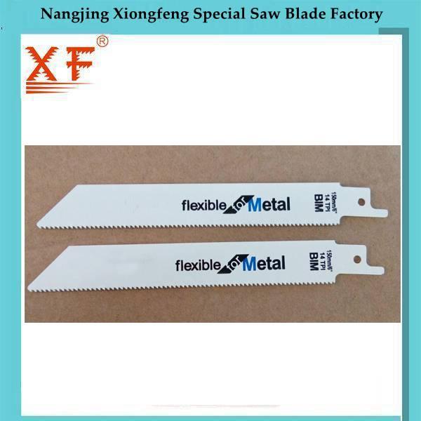 150mm 14TPI Bimetal Reciprocating Saw Blade for Metal
