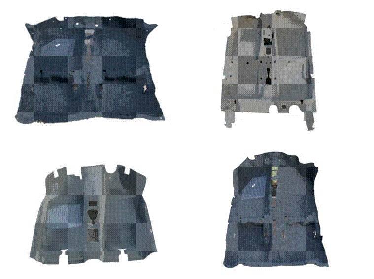 Automobile interior carpet (Velour Needle punch +PE/EVA/EPDM+PU Foam/Needle Felt)