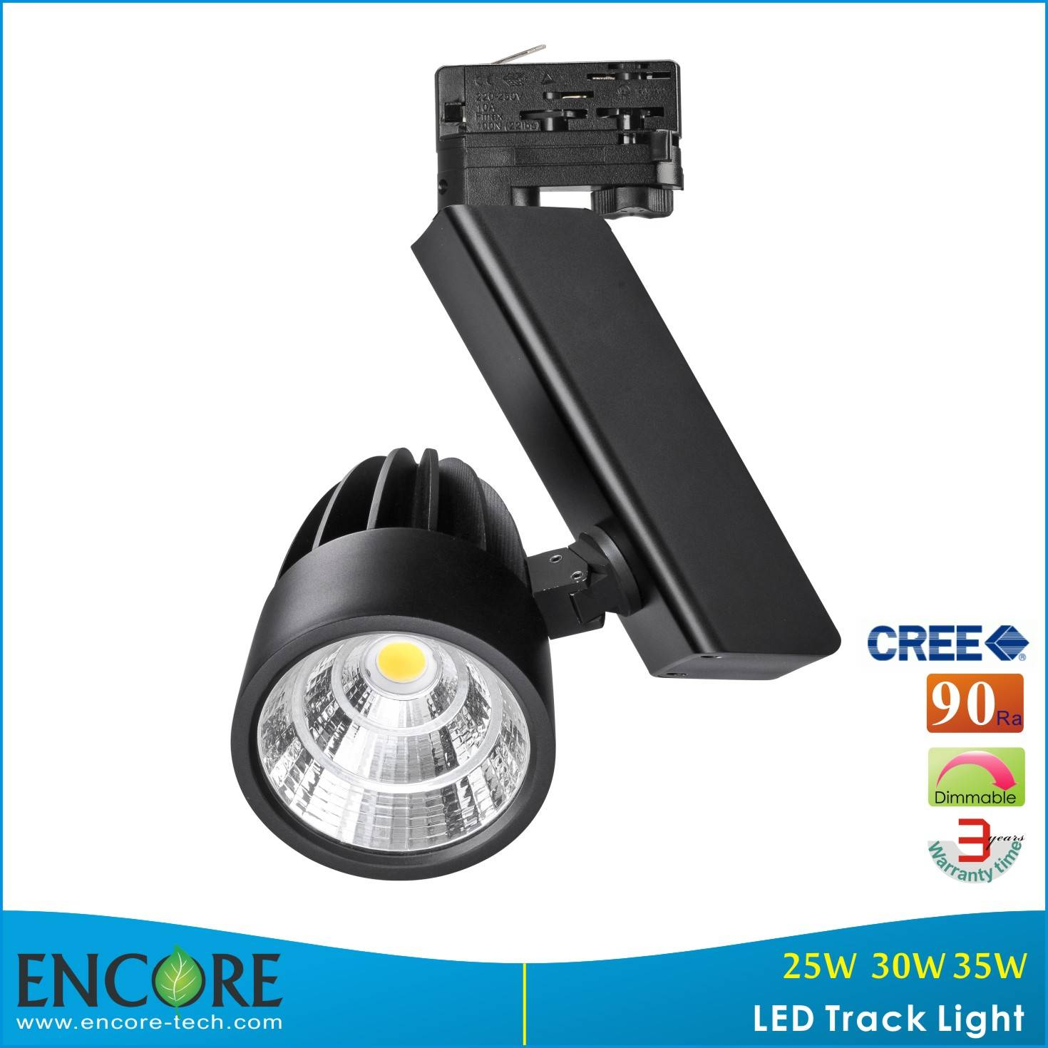 30W dimmable CREE Led Track Lighting with Meanwell driver