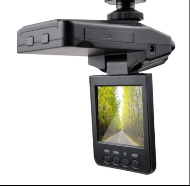 Car DVR Camera with Rotating Lens & Screen