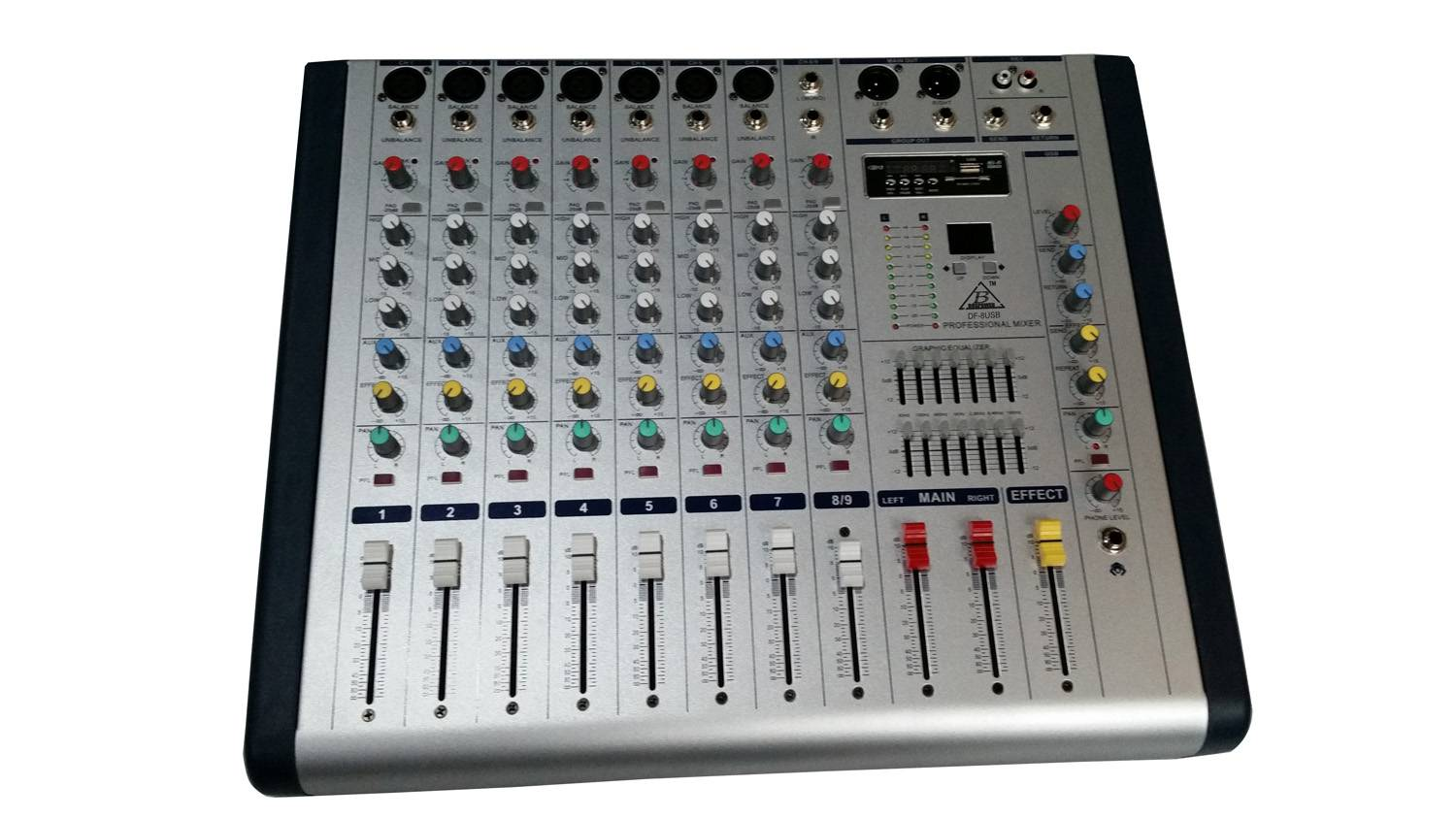 8 channel Professional Audio Mixer
