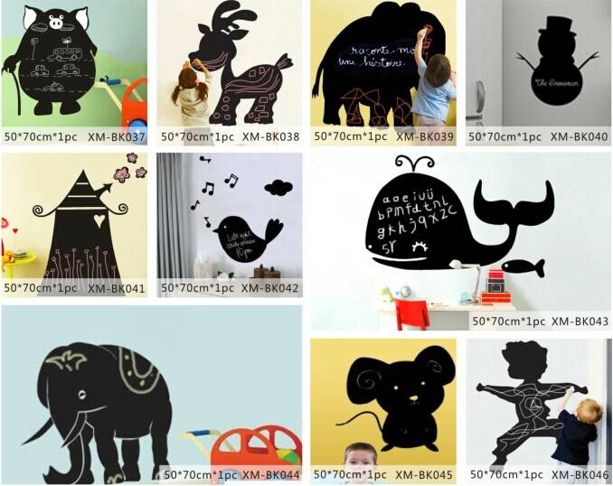 Various Shape Printed Home Decorative Wall PP Blackboard/Chalkboard Sticker