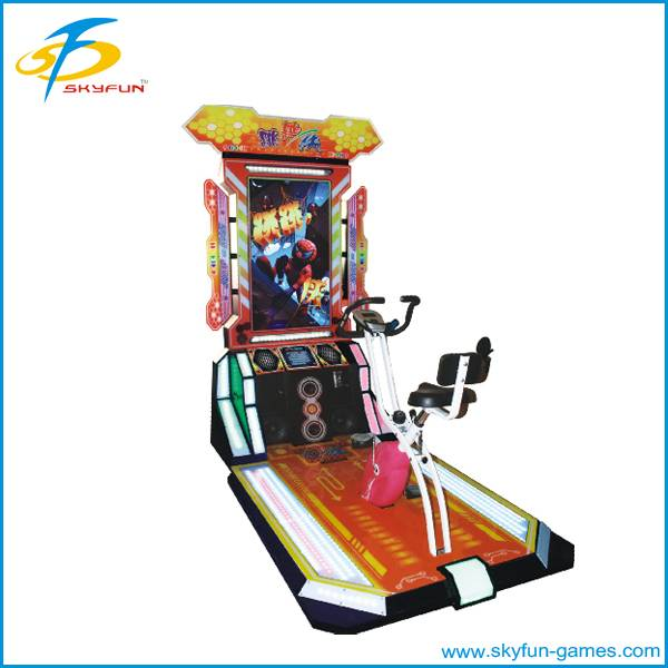 Arcade electronic recreation game machine