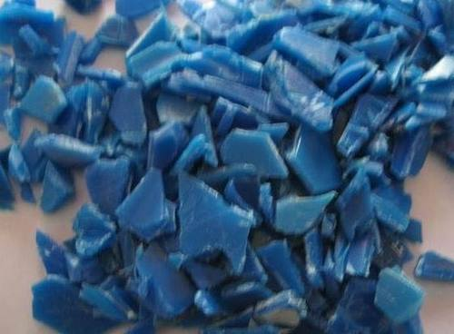 HDPE BLUE DRUM FLAKE SCRAP