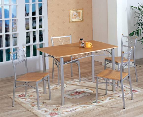 Best Selling MDF And Aluminium Table /chair Set Model2253