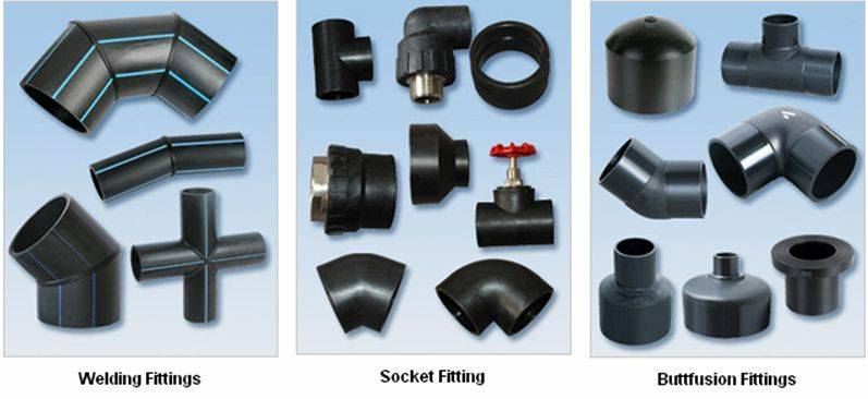 pipe fittings HDPE material