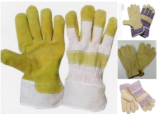supply all kind of pig split leather working gloves