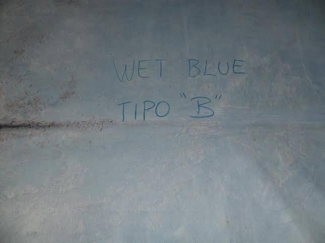Wet blue cow hides