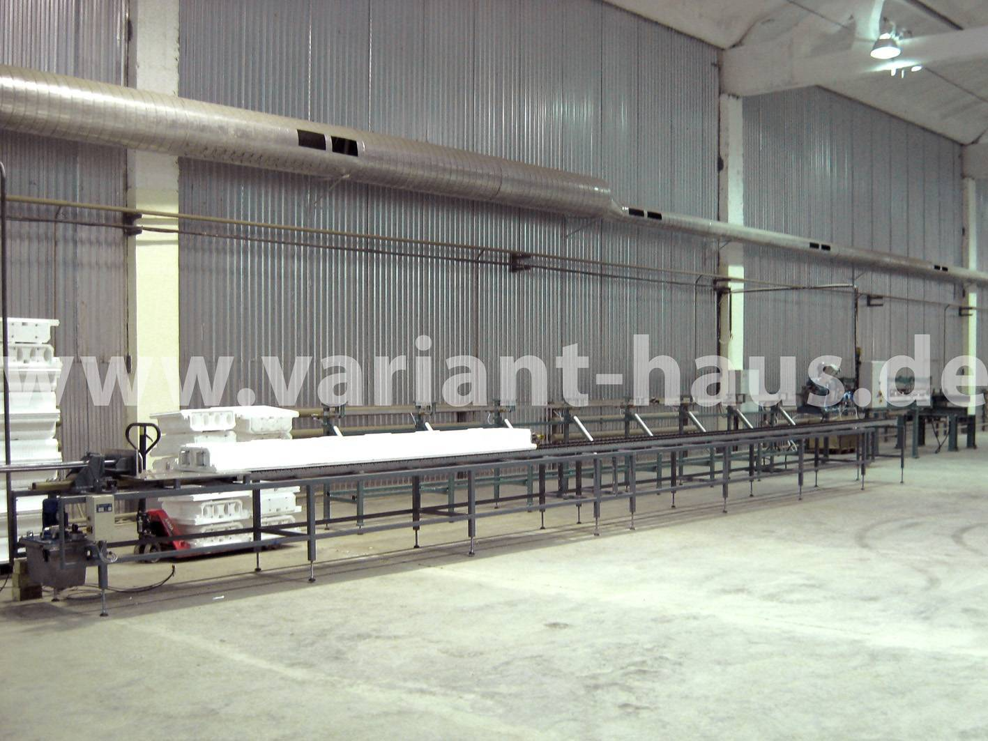 Factory for Suspended Floor Slabs, ceilings, cinder blocks, hollow concrete block insulation