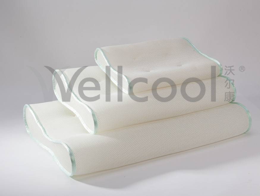 breathable knitting 3d mesh pillow with top quality