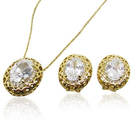 Wholesale Delicate sweet style fashion jewelry set with crystal moonlight royal style for lady