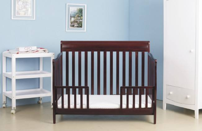 adjustable solid pine baby crib 26013