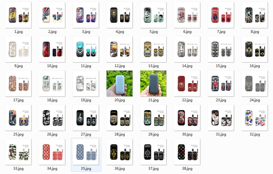 Colorful Waterproof Fadeless Frosted Adhesive Protective Sticker Case Skin Cover Wrap for IQOS