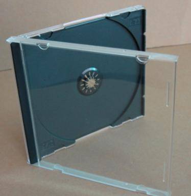 10.4mm jewel cd case with black tray
