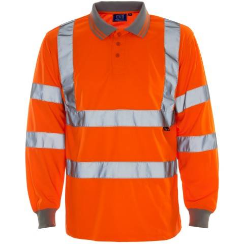 3M TAPED TWO TONE HI VIS COOL LIGHT WEIGHT MENS SHIRT - LONG SLEEVE