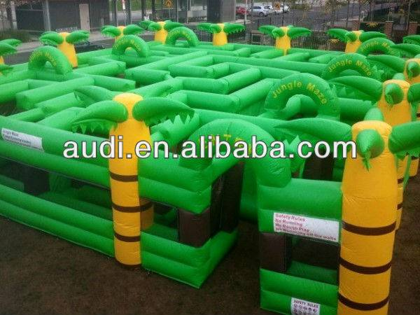 Hot Sale Jungle Inflatable Maze,inflatable Amusement park