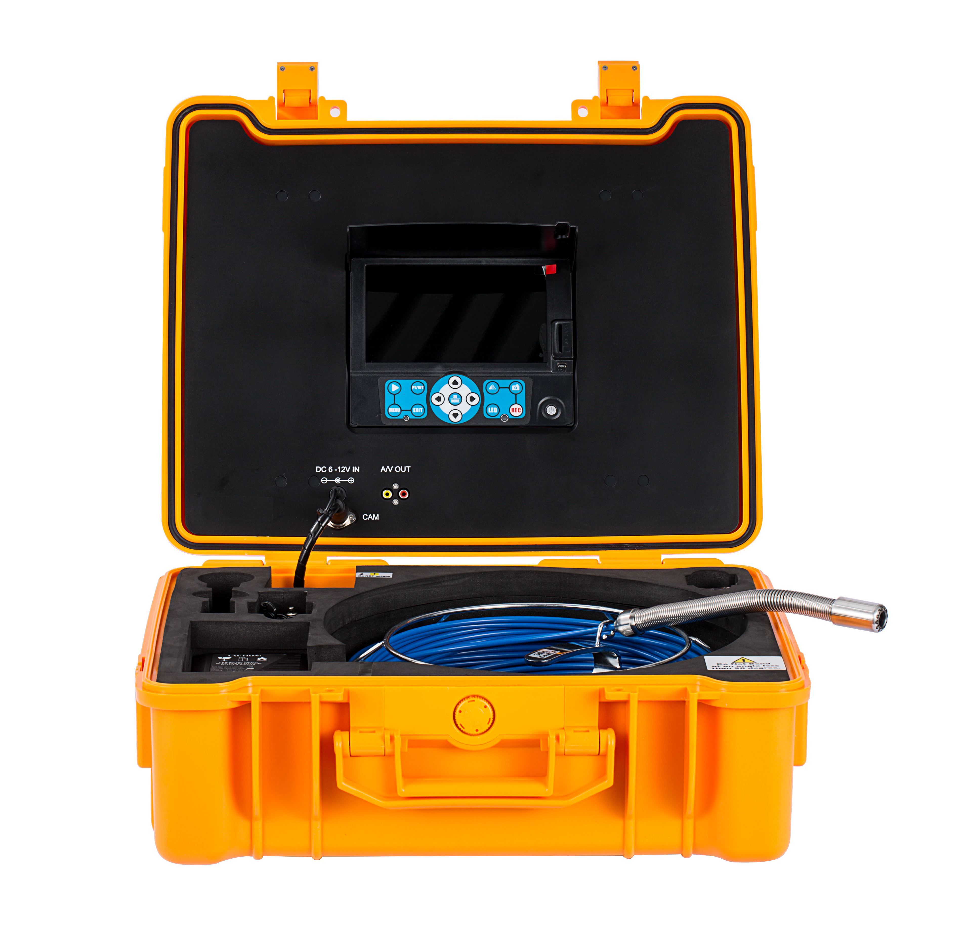 Plumbing Service equipment with 20-40m push cable sewer inspection camera
