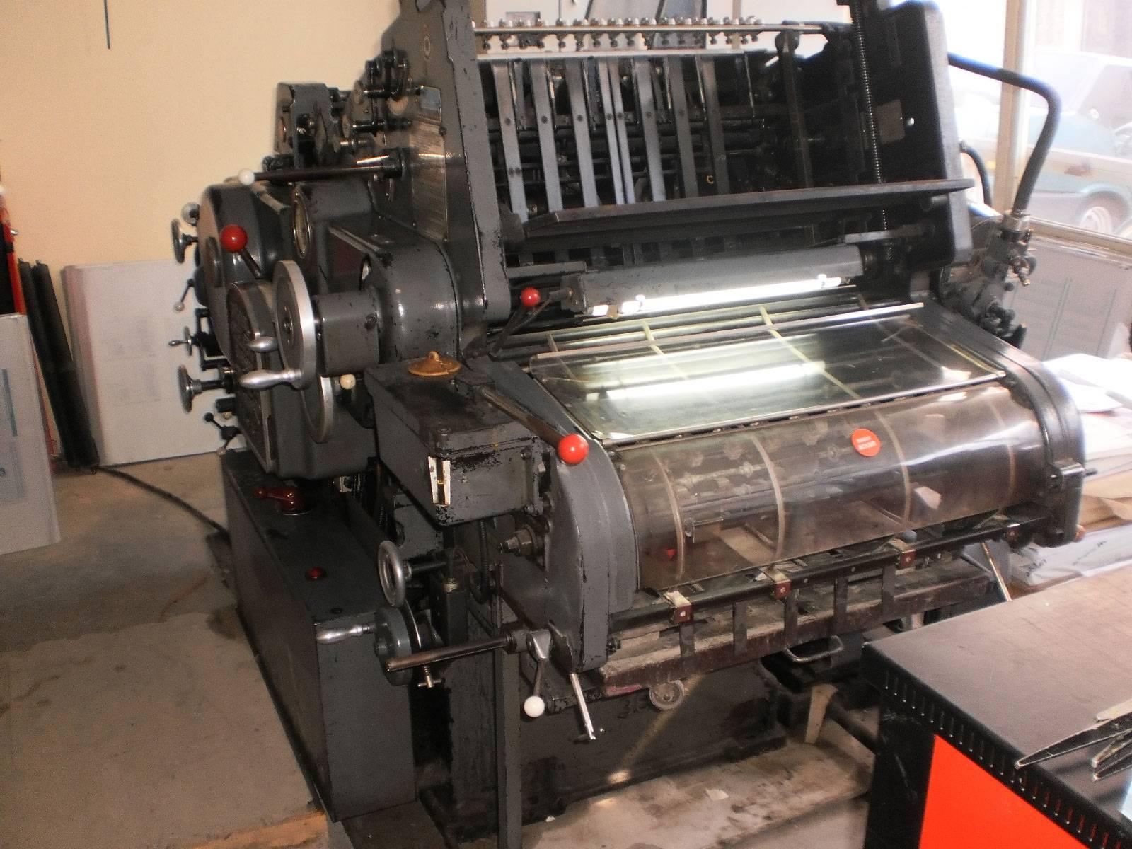 Heidelberg KORD grey 1971 offset printing machines