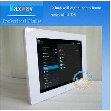 HD 12 inch digital photo frame browser wifi