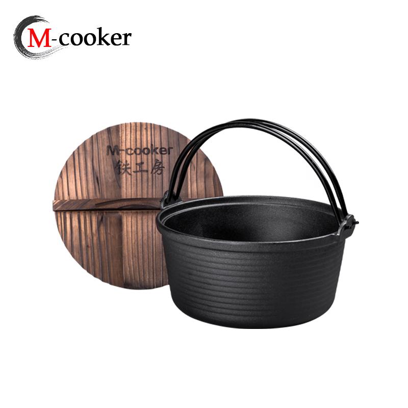 outdoor camping cookware cast iron cookware pot camping dutch oven