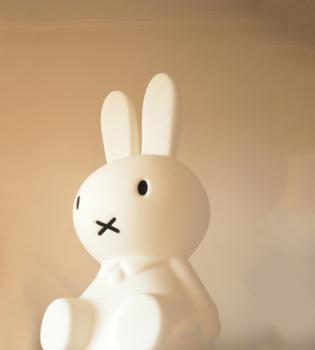 Cartoon cute rabbit lamp warm little night lamp colorful light creative Miffy rabbit lamp