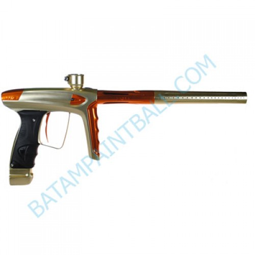 New DLX LUXE ICE Paintball Marker Gun - Dust Gold Polished Orange