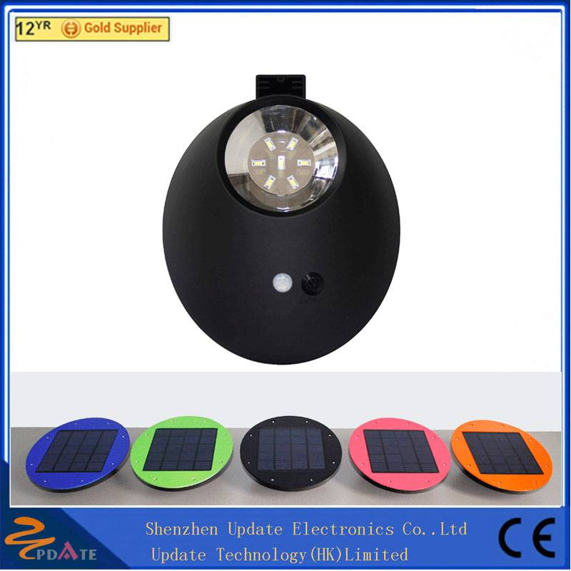 IP65 smart solar led light fixture outdoor wall light fixture 7 led waterproof