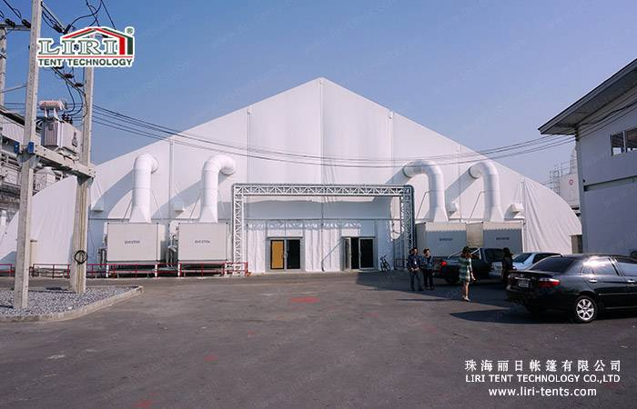 50m Width Large Outdoor Clear Span Aluminum Frame Waterproof TFS Curve Tent for Exhibition