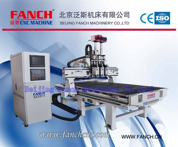 Offer Non-metal Materials Three-spindle CNC Machining Center