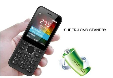 Supply 2.4 inch high definition quad band feature cell phones with 1000 mAh battery & big capacity