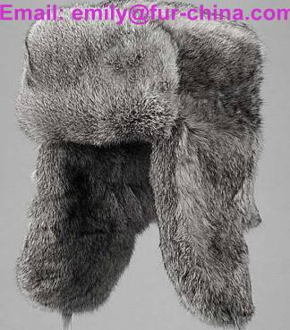 Real Natural Color Rabbit Fur Russian Fur Hat
