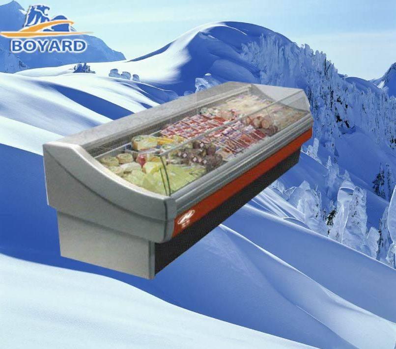 Supermarket Fresh Meat Case Freezer