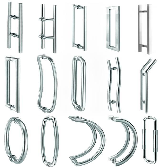 stainless steel pull handle(glass-door handle)