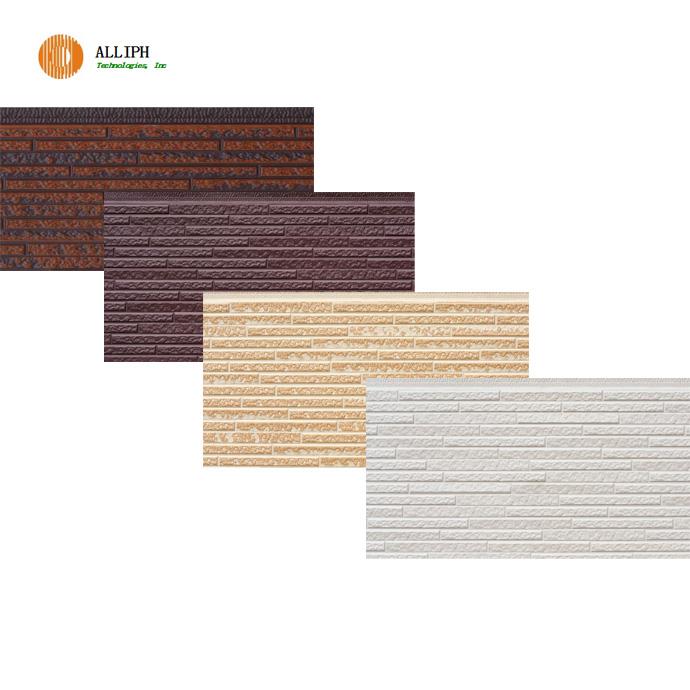 PU foam insulated wood texture sandwich exterior wall panel