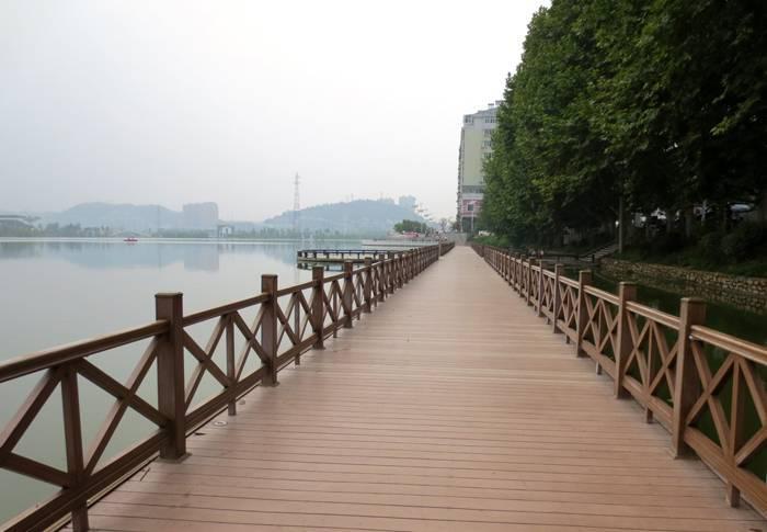 Wood Plastic composite plank road decoration
