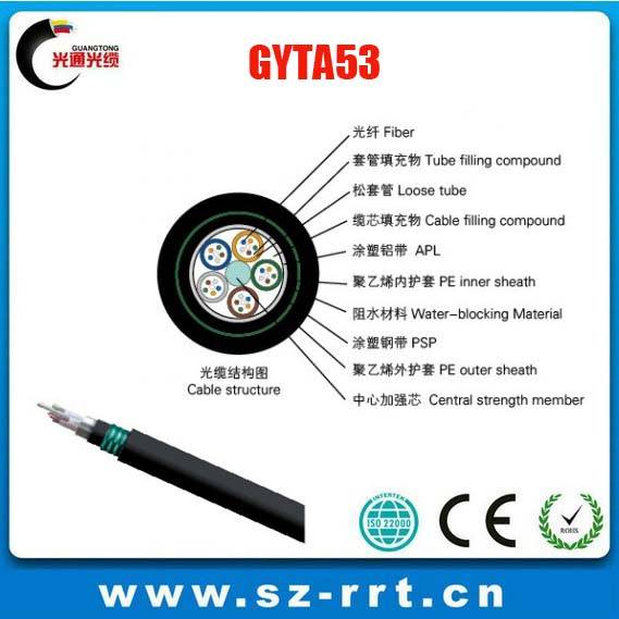 Loose tube armored fiber optic cable