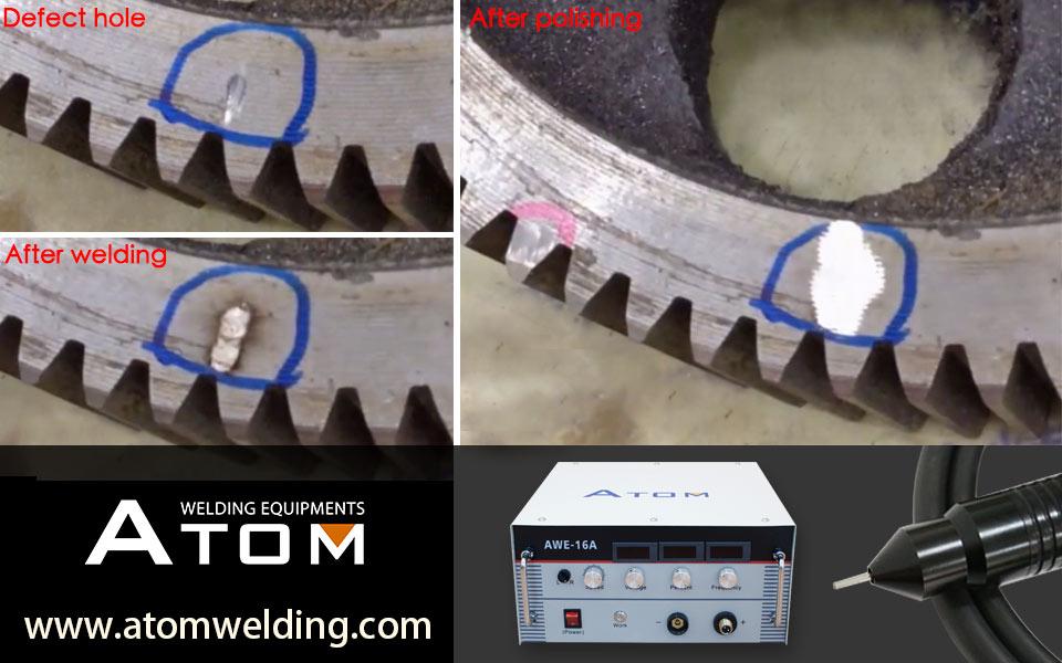 Gray iron defect welding machine