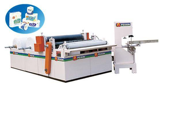 toilet paper roll folding rewinding packing machine