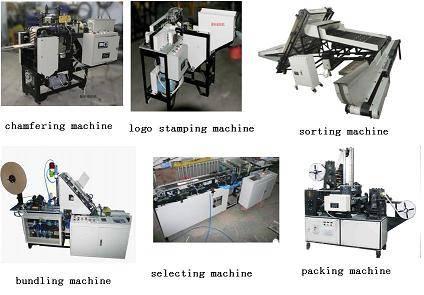 Tongue depressor spatula sorting ordering selecting bundling branding packing machine