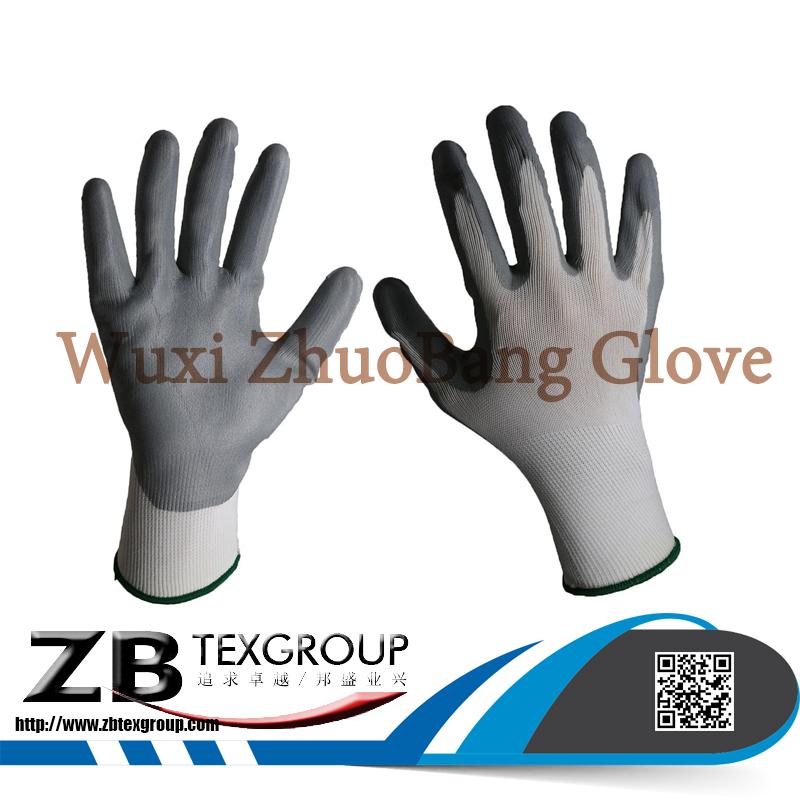 15G Nylon Micro Foam Nitrile Coated Gloves Working Gloves