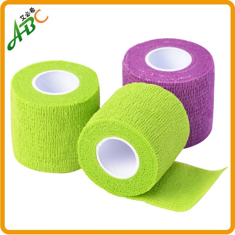 Non-Woven Cohesive Elastic Sports Tape/tender tape self-adhesive non woven ,cotton available