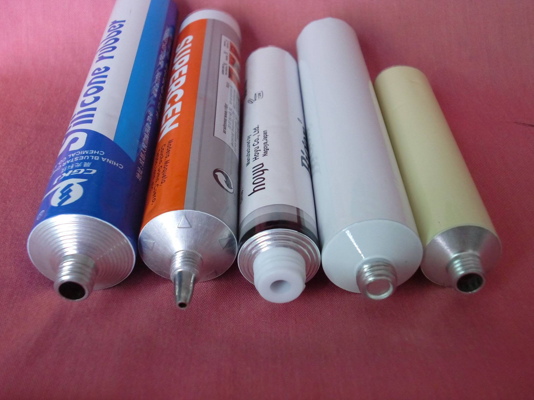 packing hair color cream tube