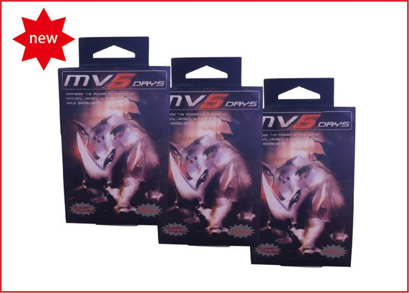 Mv-5 For Natural Male Enhancement With 24 Capsules Per Box