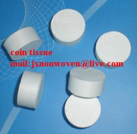 Cheap custom made magic/compressed coin tissue