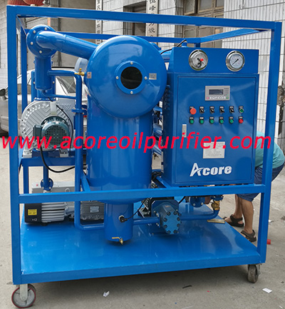 Mobile Vacuum Transformer Oil Filtration Plant