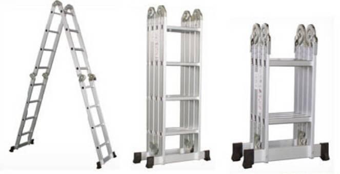 Antislip multipurpose aluminum alloy folding ladder, step ladder,4x4