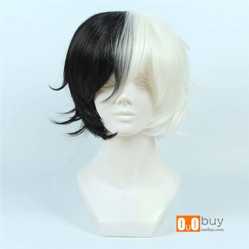 Selling Bungo Stray Dogs Yumeno Kyusaku Half Black Half White Short Turned-Alice Cosplay Wig