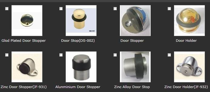 Thirty-one different types of Door Stops(series)