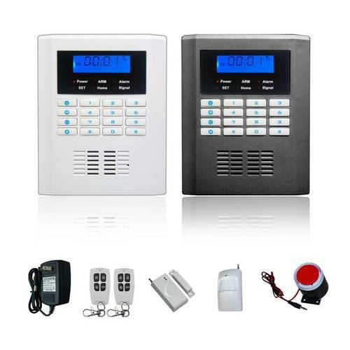 Quad-Band LCD home security PSTN GSM alarm system