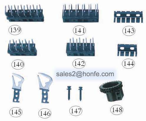 textile or weaving machinery parts